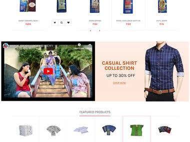 Open cart based Ecommerce Website