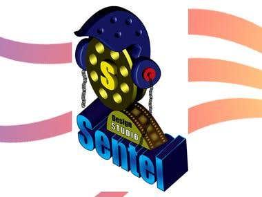 3D Logo Design for Sentel Design Studio