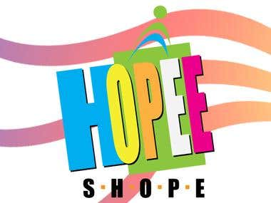 Logo Design for Hopee Shopee