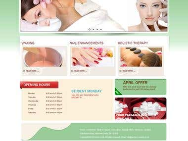 Beauty saloon website