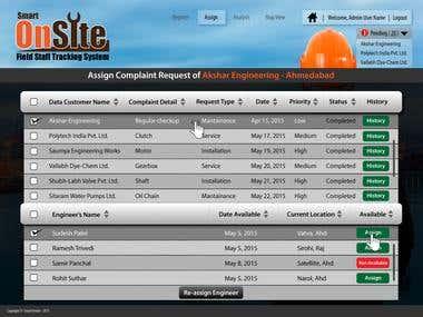 Web Design for Smart OnSite (FSTS)