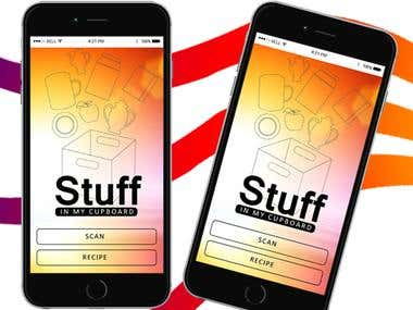 Mobile Application Design for Stuff in my Cupboard
