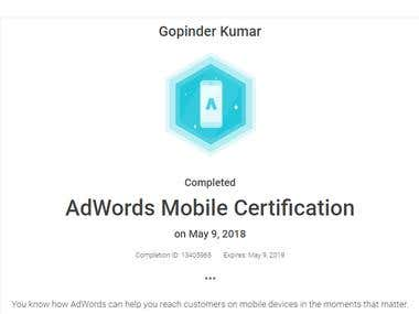Google Adword Certification