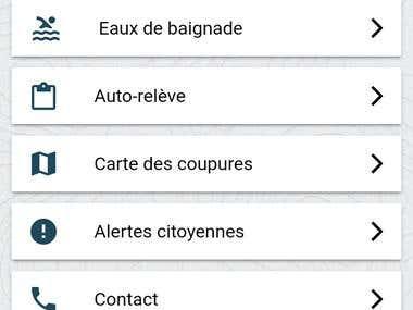 Mobile application for sharing information and sending alert
