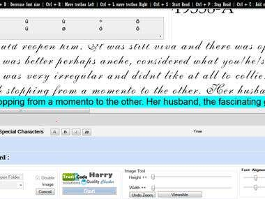 Proof reading software which for checking error on typing