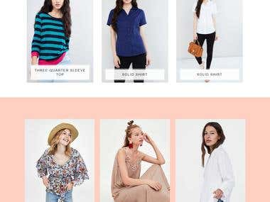 Wordpress store for girls fashions wear and accessories