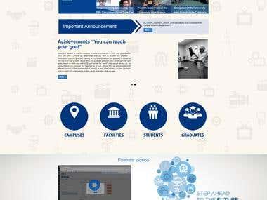 Sinai university multisite website