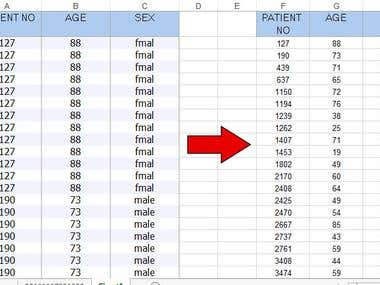 Transpose duplicate rows to columns in Excel