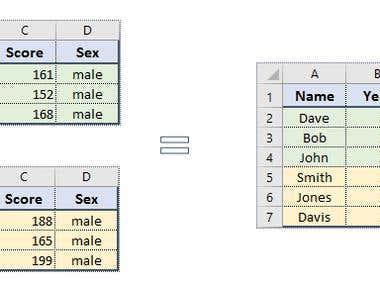 Merge worksheets in Excel