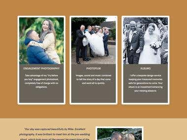 Landing Page for WeddingPhotography
