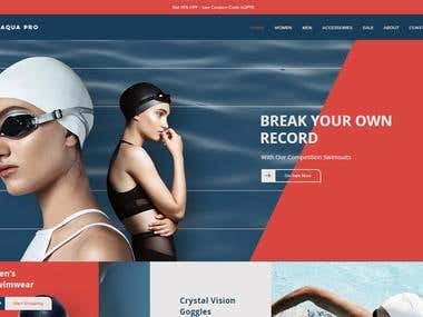 Swimming shop site