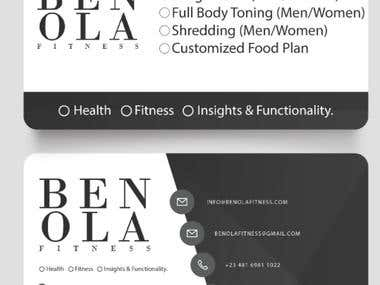 Business Card for Ben Ola Fitness