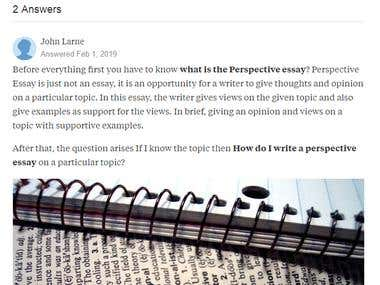 52 Article Writing On Quora