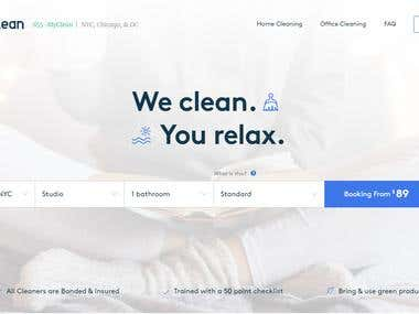 My Clean - Services Booking Website