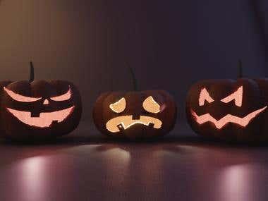 3D Pumpkin Halloween 3D Model
