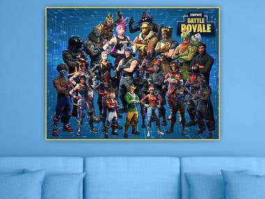 Fortnite game poster/wall art