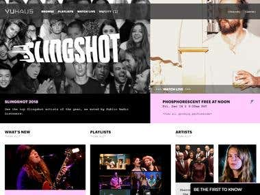 Vuhaus - musical website.