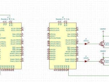 Raspberry Pi Transmitter & Receiver (KiCad & Fritzing)