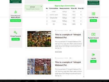 Buyer and Farmer Website