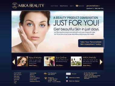 Website Design for beauty