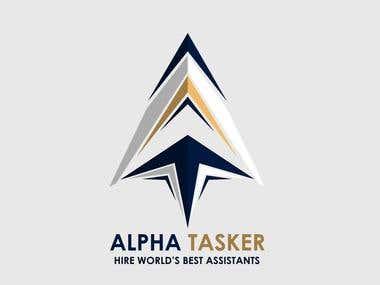 A Logo design for a company name AlphaTasker