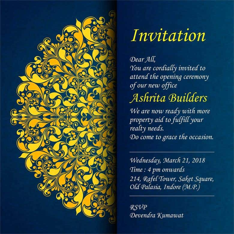 Invitation Cards Freelancer