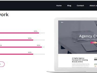 Wordpress Website For Creative Agency (Responsive)