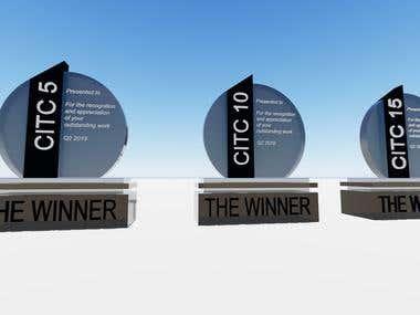 trophy design for mr amaher