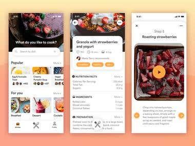 Mobile app ( UI/UX ) Designing