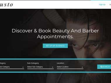 Saloon App - Web- Saloon Customer Booking and Saloons Owner