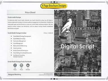 Brochure Designs (4 Page)