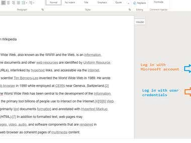 Word Add-In to insert predefined comments