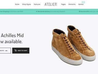 Online Shop for Atelier