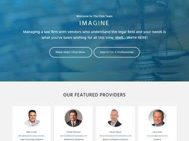 Membership Website for Law firm Community