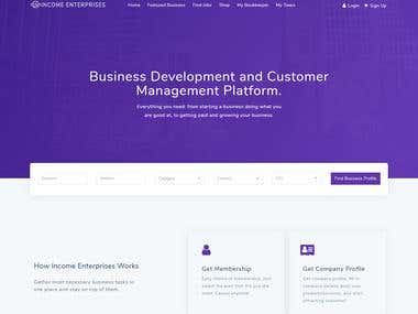 Services provider website - Income Enterprises