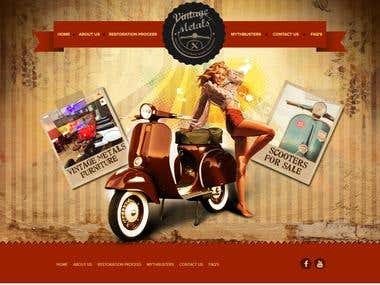 Vespa Motor Selling Website