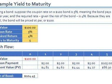 Yield to Maturity - Example