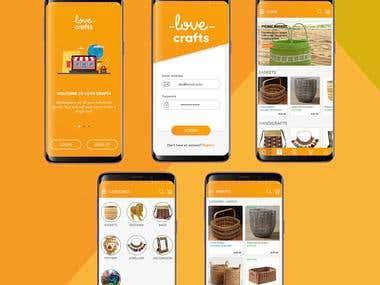 e-Commerce App Design For Handicrafts