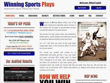 Winning Sports Plays - (Wordpress)