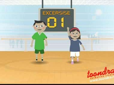fitness animation