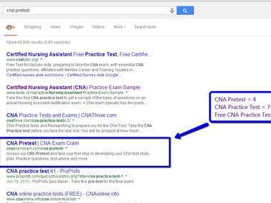 SEO for The CNA Related Website