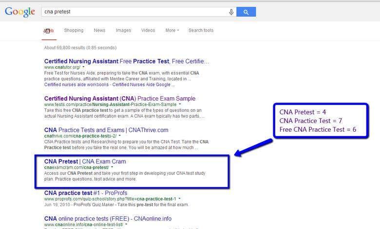 SEO for The CNA Related Website   Freelancer