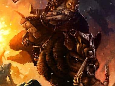 Dwarf on Boar