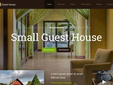 Hotel Management and Guest House Full Website