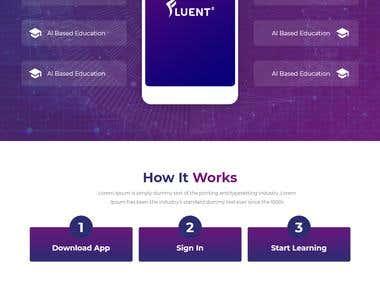 Website Design For An A.I App