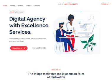 Elementor Landing Page for Agency Website