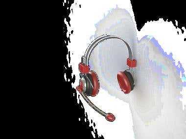 Headphone made in Solidworks