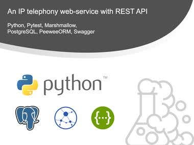 A web-service for IP telephony with REST API aiohttp