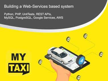 Building a Web-Services based system for a taxi mobile app