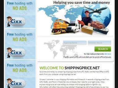 Shipping Price -- A shipping cost comparision website